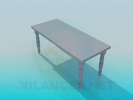 3d модель Стол с резьбленными ножками – превью