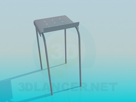 3d modeling Bench with a fillet model free download