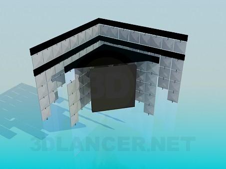 descarga gratuita de 3D modelado modelo Lámpara de la esquina