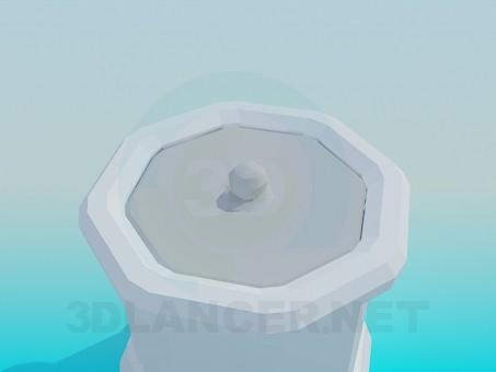 modelo 3D Urna con tapa - escuchar