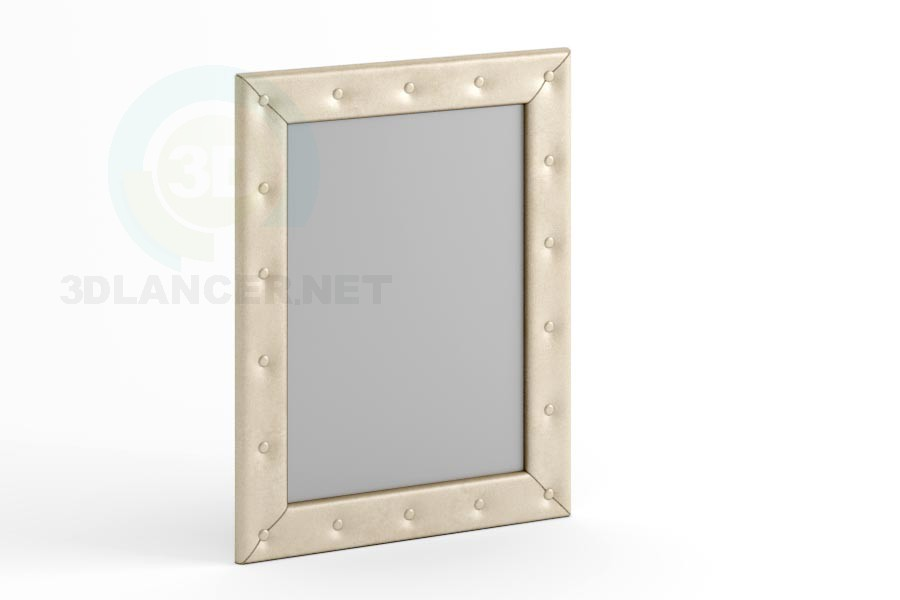 3d modeling Mirror 90 x 70 with buttons model free download