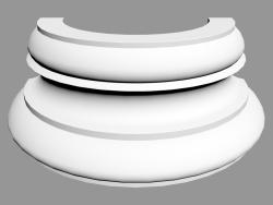 Semicolumn (bottom) K1151 (32 x 16 x 12.5 - Ø 32 cm)