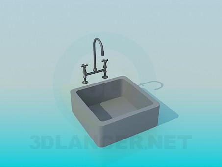 modelo 3D Vanidad de cuadrados - escuchar