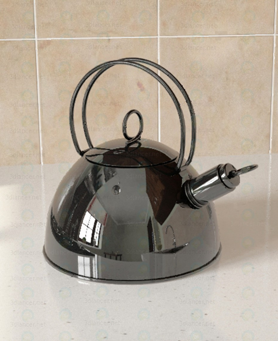 3d modeling Kettle model free download