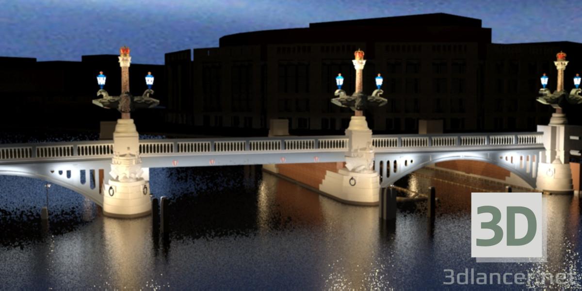 3 डी मॉडल ब्लू ब्रिज एम्स्टर्डम - पूर्वावलोकन