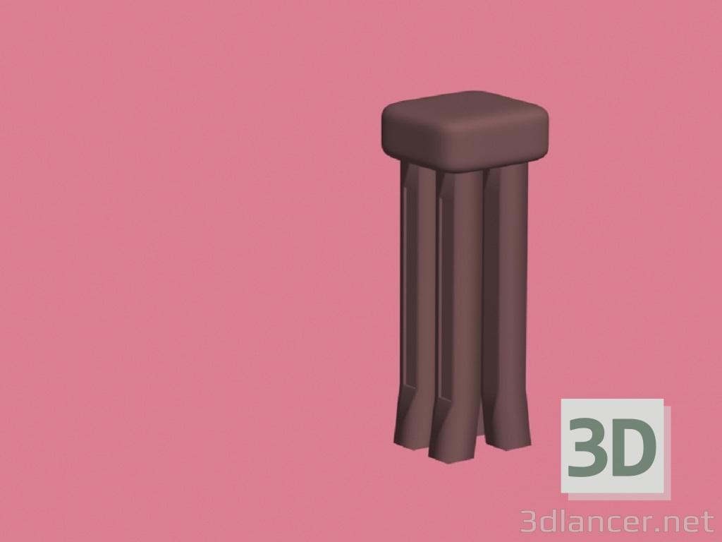 3 डी मॉडल स्टूल - पूर्वावलोकन