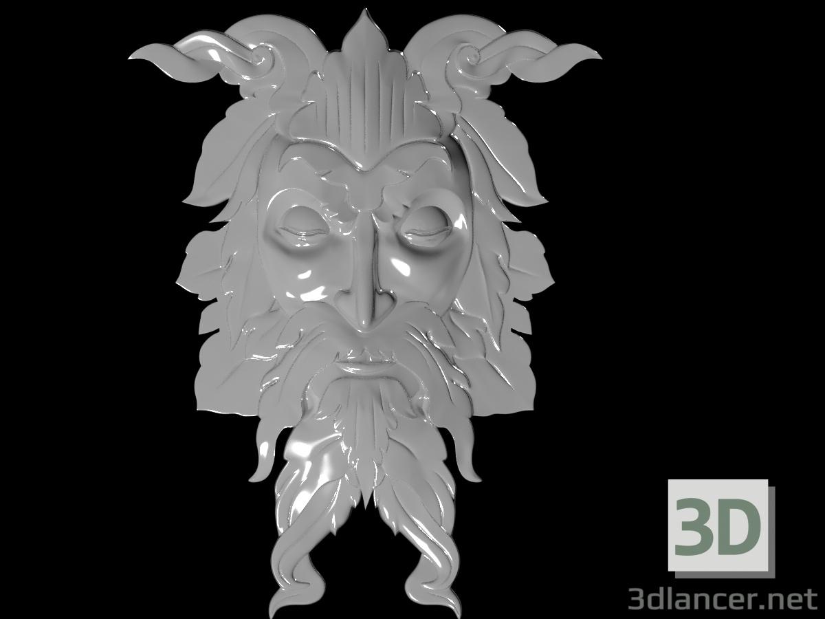 3 डी दाढ़ी वाला मुखौटा मॉडल खरीद - रेंडर