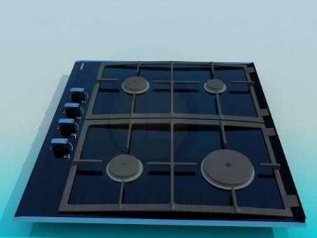 3d модель Варочная поверхность – превью