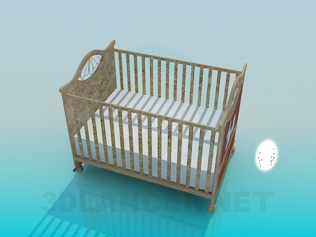 3d model Baby cot - preview