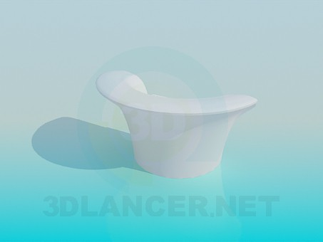 3d model Small armchair - preview