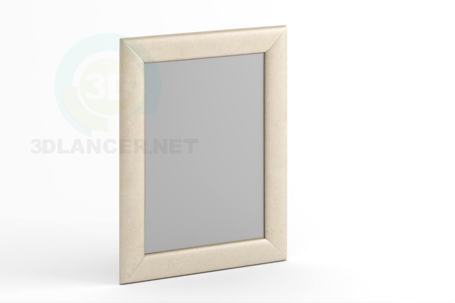 3d model Mirror 90 x 70 in leather or fabric. - preview