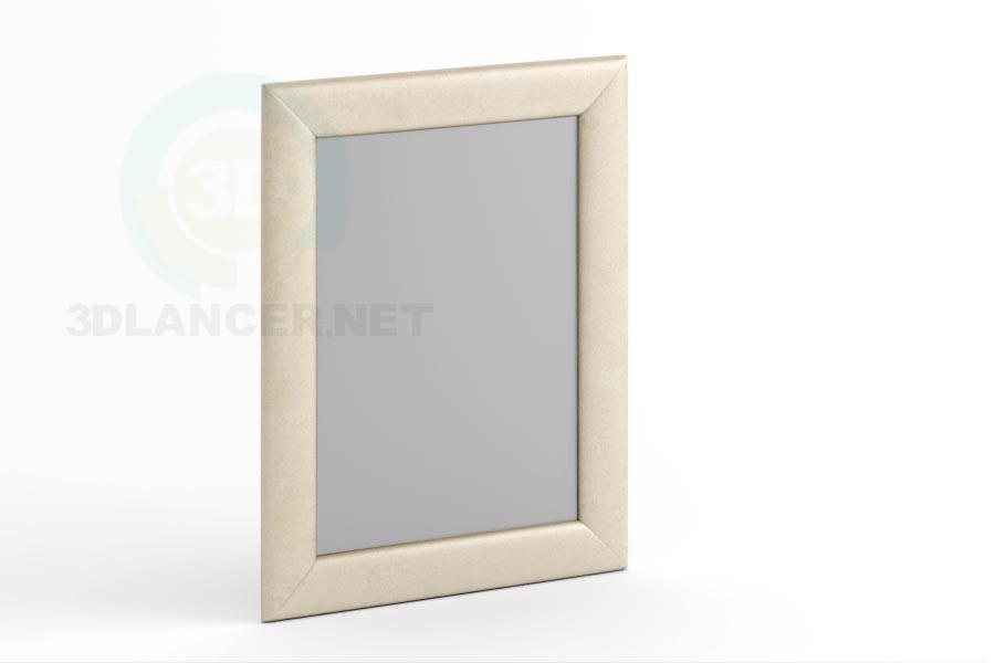3d модель Зеркало 90 х 70 в коже или ткани. – превью