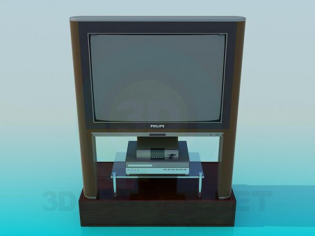 3d modeling TV and Receiver model free download