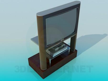 modelo 3D TV y el receptor - escuchar