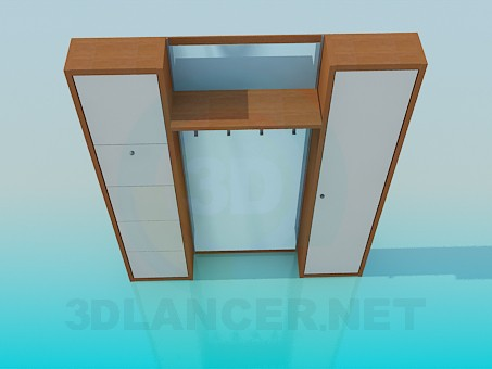 3d modeling Cupboard in the entrance hall model free download