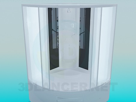 3d model Spacious shower - preview