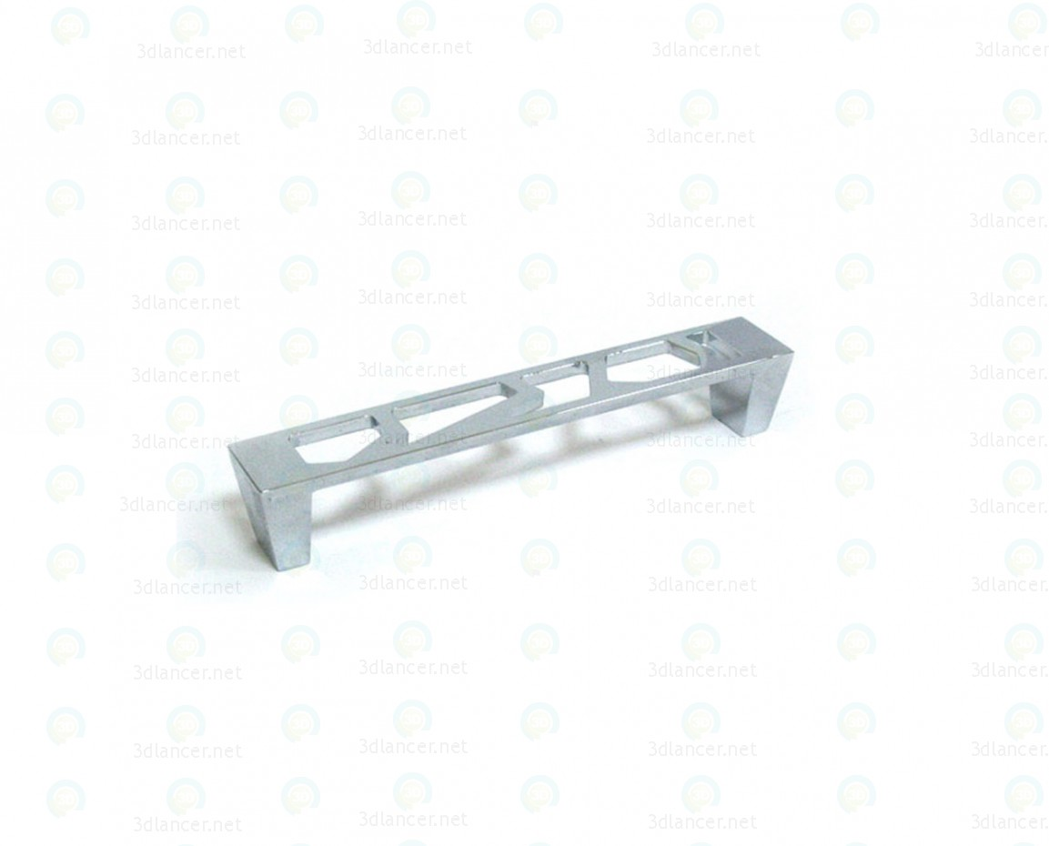 3d model Tofino zinc handle bracket 128mm - preview