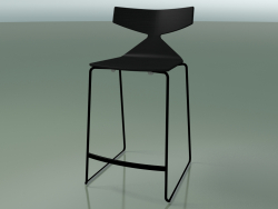 Tabouret de bar empilable 3703 (noir, V39)