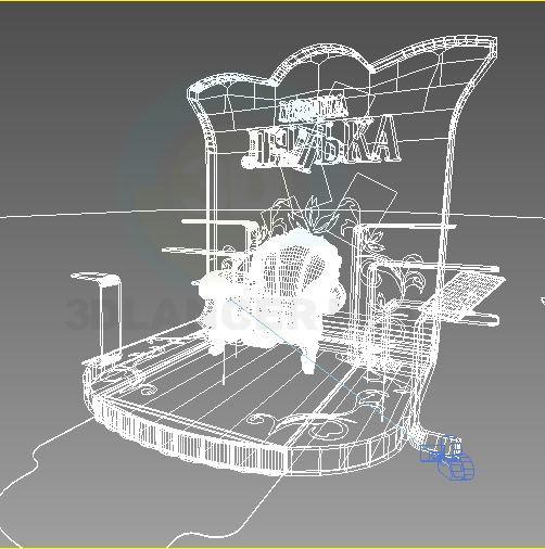 modelo 3D Stand de exposición - escuchar