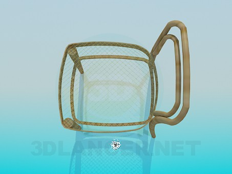3d model Chair with mesh - preview