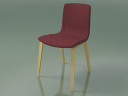 Chair 3966 (4 wooden legs, polypropylene, upholstery, natural birch)