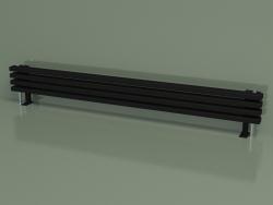 Radiateur horizontal RETTA (4 sections 1800 mm 60x30, noir mat)