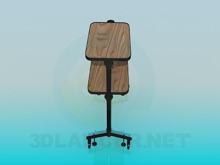 modelo 3D Carretilla - escuchar