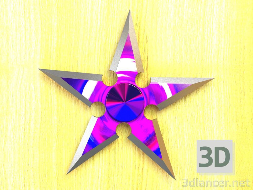 3d Ninja Star Fidget Spinner model buy - render