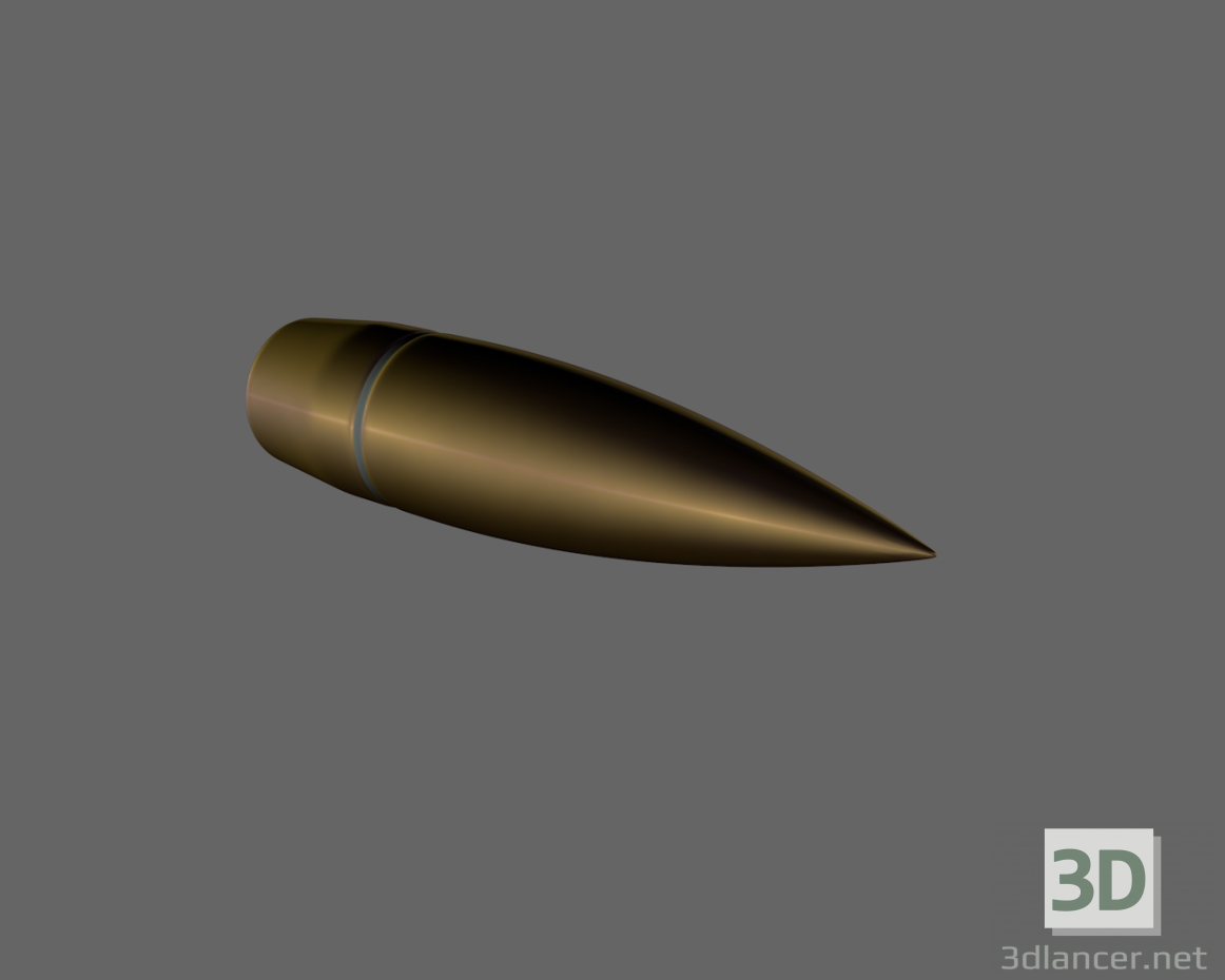 3d Bullet 7.62 model buy - render