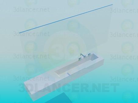 3d модель Умывальник и зеркало – превью