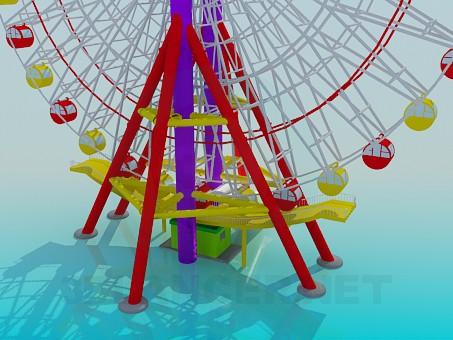 3d model Ferris Wheel - preview