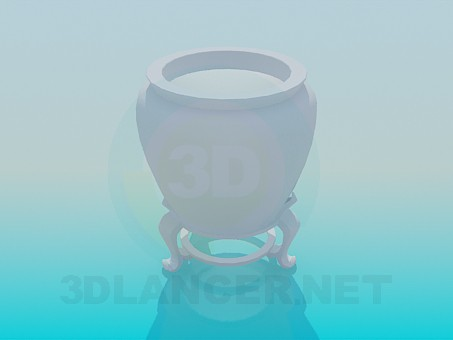 3d model Potfor the plant - preview