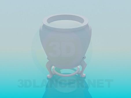 descarga gratuita de 3D modelado modelo Potfor la planta