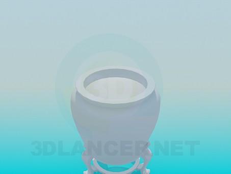 modelo 3D Potfor la planta - escuchar