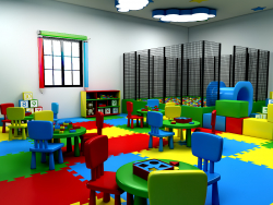 Modelo 3D de jardim de infância