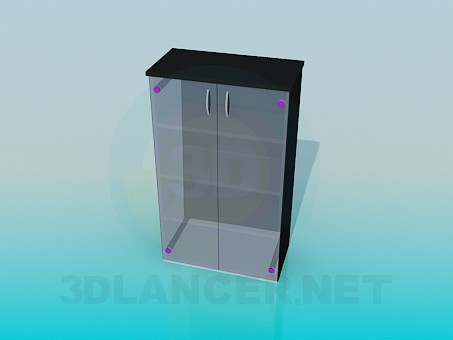 3d model Rack stack with glass shelves and doors - preview