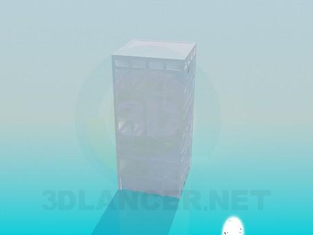 3d модель Пластикові ящики – превью