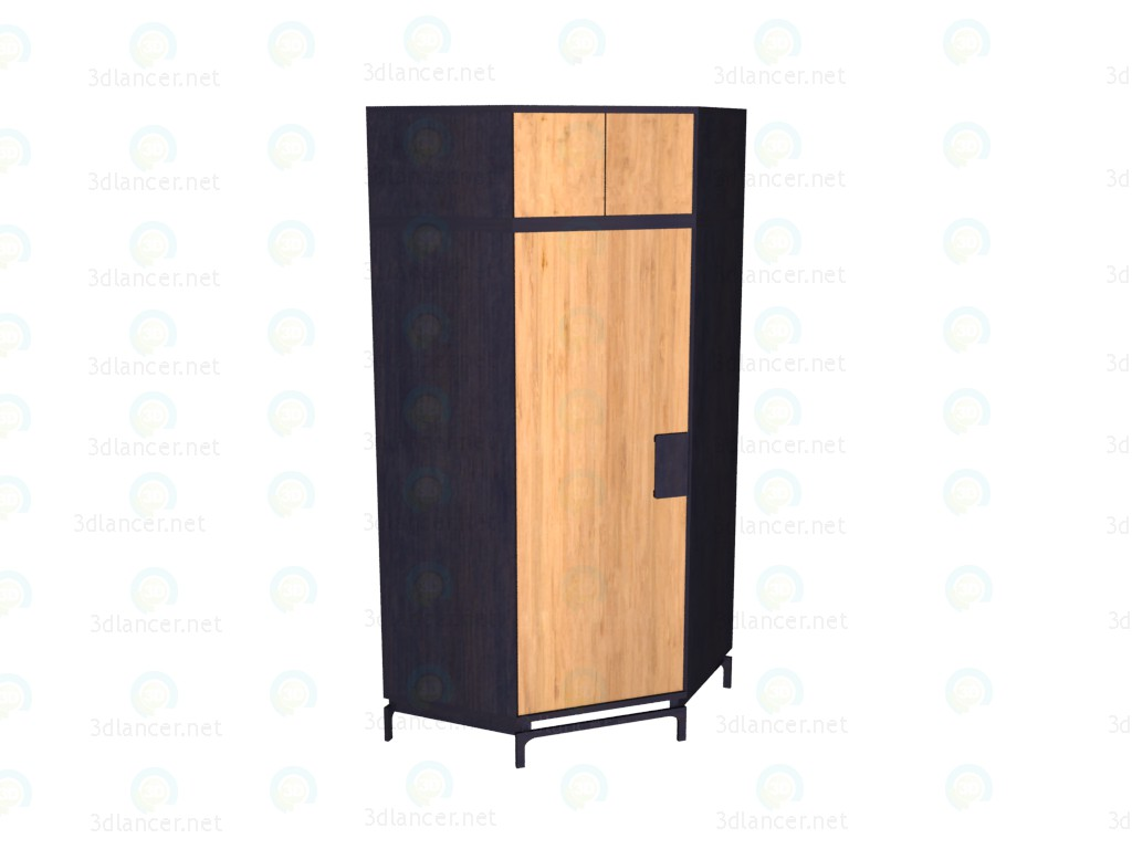 3d model Corner wardrobe with an extension VOX - preview
