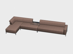 Sofa modular (corner, with a table) Borneo