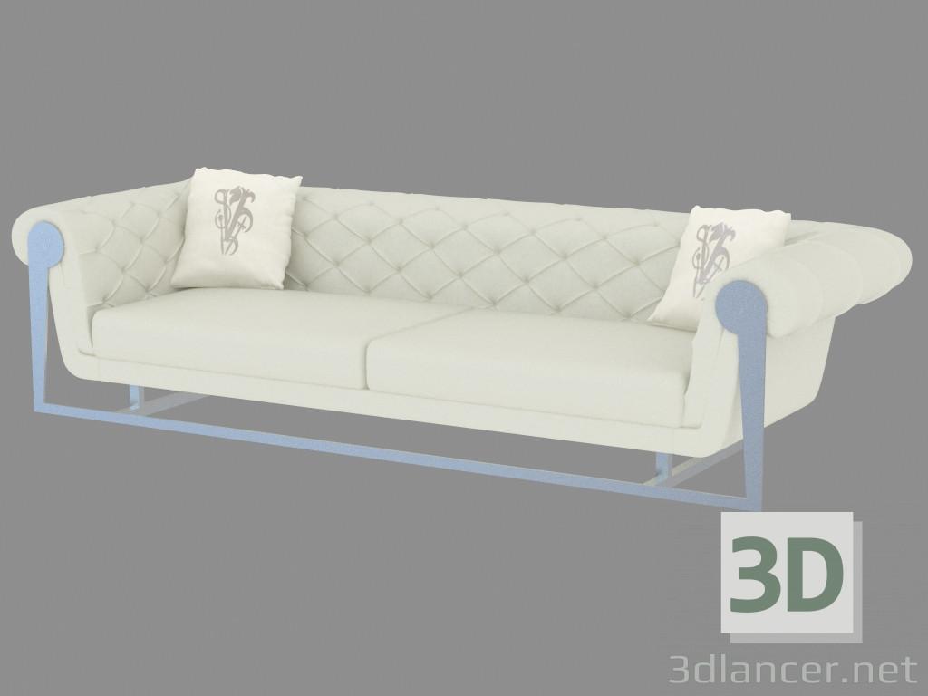 3d моделирование Диван кожаный классический прямой Chester модель скачать бесплатно