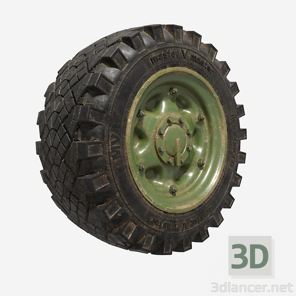 3d Wheel2 model buy - render