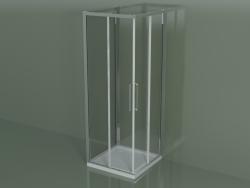 Box doccia ZA + ZA + ZG 75, 3 lati con porta scorrevole ad angolo