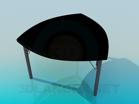 3d model Table triangular - preview