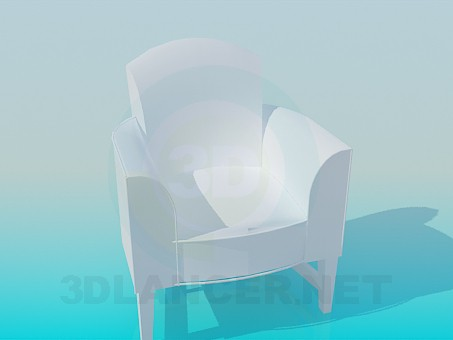 3d модель Кресло на ножках – превью
