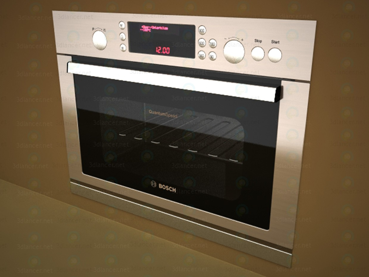 3d model Microwave oven and Bosch - preview