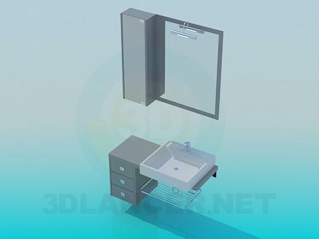 modelo 3D Muebles para el lavabo en el baño - escuchar
