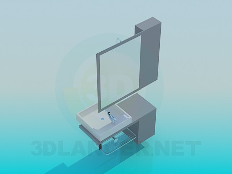 3d model Furniture for the sink in the bathroom - preview