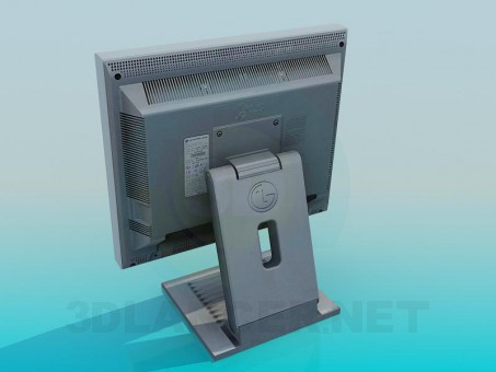 3d модель Монитор – превью
