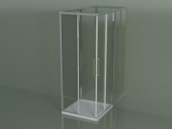 Box doccia ZA + ZA + ZG 80, 3 lati con porta scorrevole ad angolo