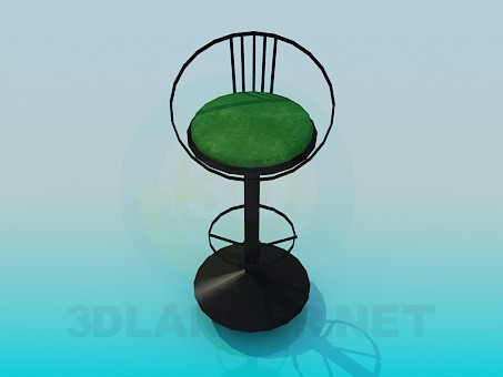 3d modeling High chair on one leg model free download